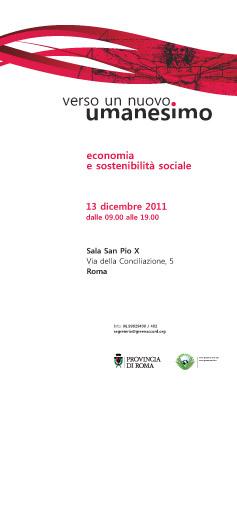 Verso un nuovo Umanesimo - Roma 2011